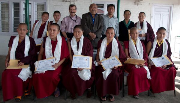 closing ceremony 9 nuns at receive nurse training at Delek Hospital