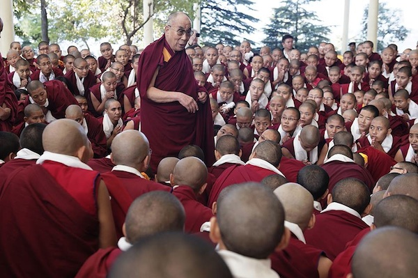 His Holiness the Dalai Lama addresses the nuns after debate session Nov 3 2013