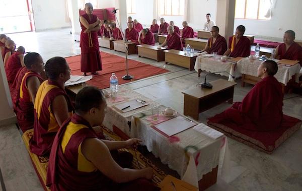 Tibetan nuns debate Geshema exams May 2013