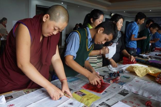 Tibetan Buddhist nun at workshop