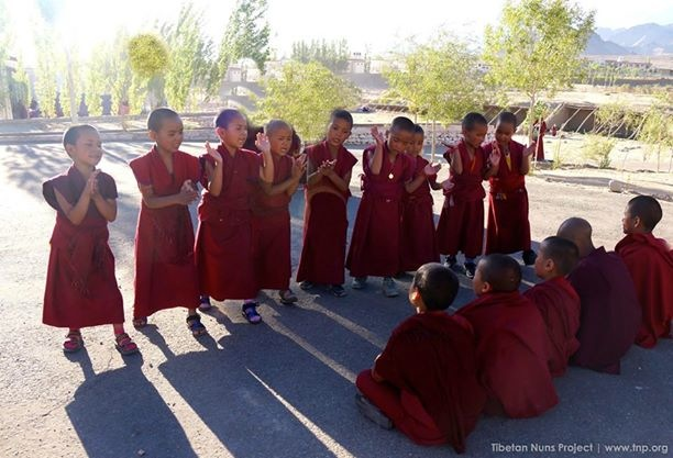 young Buddhist nuns debating Spiti
