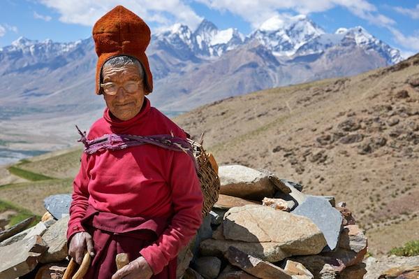 Tsering Drolkar is one of the oldest nun of Dorje Dzong Nunnery in Zanskar