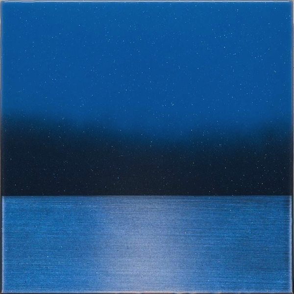 Prayer Flag Blue by Miya Ando