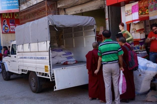 Tibetan Buddhist nuns, Dolma Ling Nunnery, Tibetan Nuns Project, truck