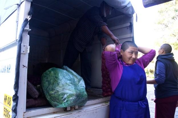 Tibetan Nuns project, Buddhist nuns, Tibetan nuns, Dolma Ling Nunnery, nunnery food