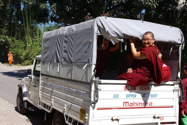 Buddhist nuns, Dolma Ling Nunnery, Tibetan nuns, shopping, Dolma Ling truck, Tibetan Nuns Project