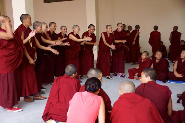 Tibetan Nuns Project, Buddhist debate, nuns, nunnery, Dharamsala, Buddhist women, nuns education