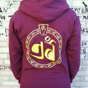 Maroon Zip-Up Back