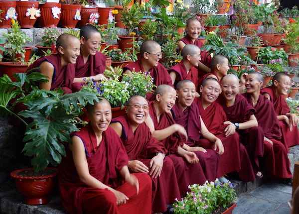 Tibetan Nuns project, Dolma Ling, flower competition