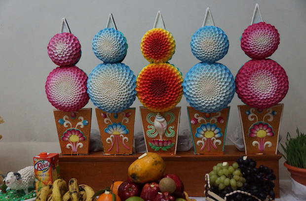 butter sculptures, Tibetan New Year, Losar, chemar bo