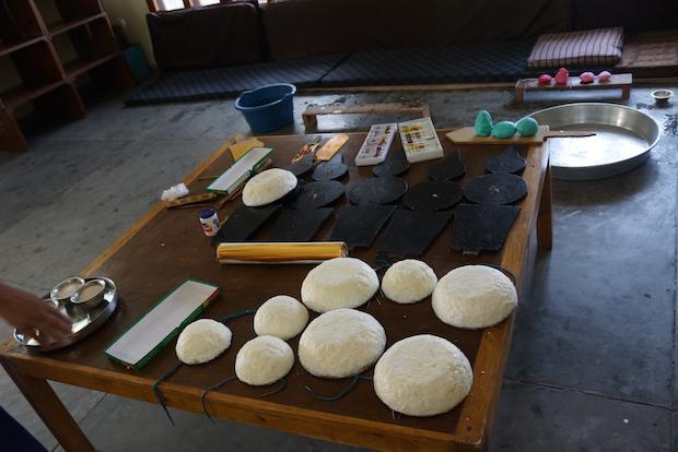 materials for Tibetan butter sculpture
