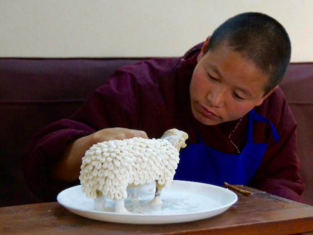 Tibetan butter sculpture sheep or ram