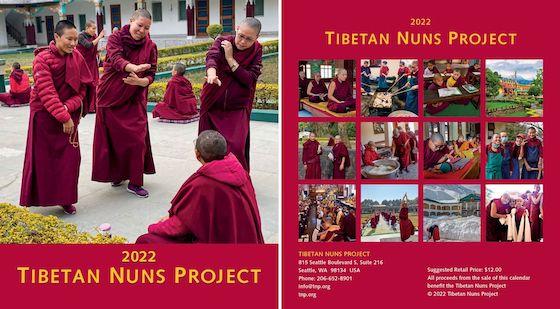 2022 calendar, Tibetan Nuns Project calendar, Tibetan calendar