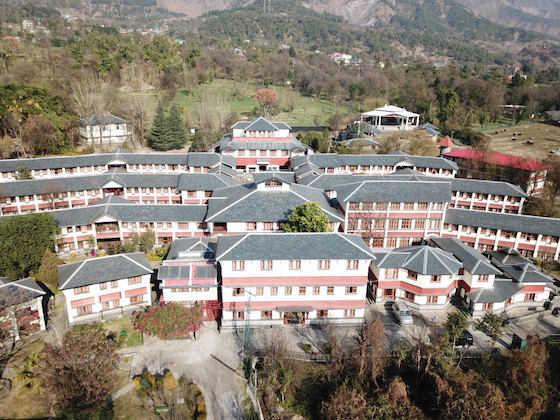 Aerial view of Dolma Ling Nunnery and Institute