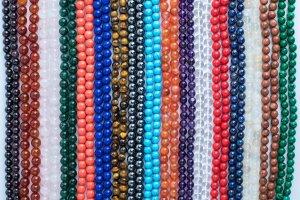 Assorted Stone Malas, mala, malas, Tibetan malas, Tibetan prayer beads,