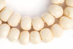 Bone White mala, bone mala, mala, malas, Tibetan malas, Tibetan prayer beads,