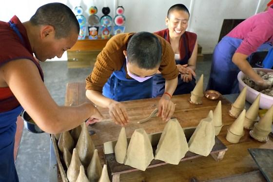 Tibetan tormas, Tibetan Buddhist nuns, tormas, Tibetan ritual arts