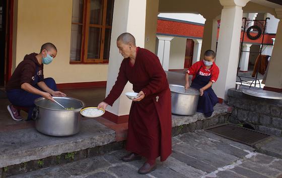 lunch at a Tibetan Buddhist nunnery, Dolma Ling