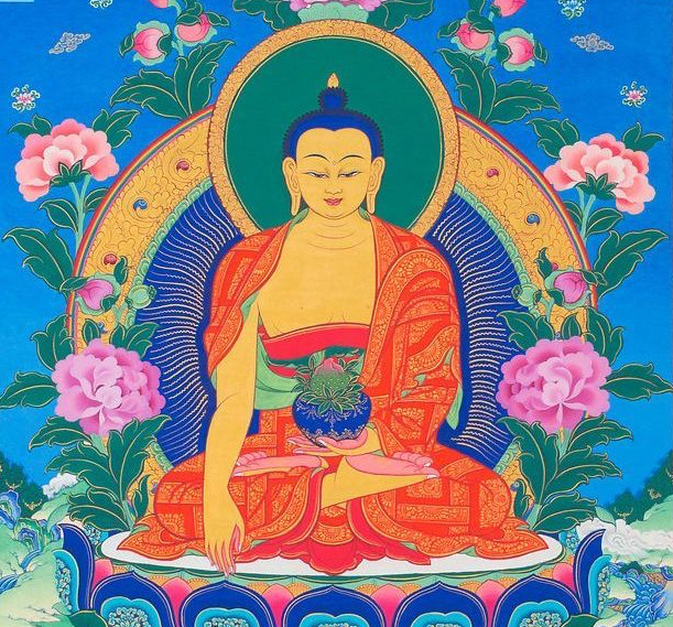earth witness mudra, Buddha, thangka,