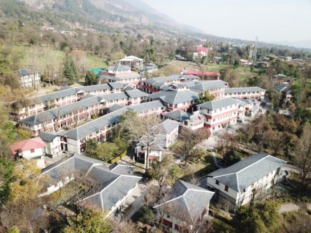 aerial view of Dolma Ling Nunnery