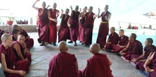 Tibetan Buddhist debate, nuns debating, debating, Tibetan Buddhism,