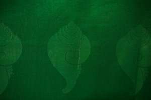 Katak-Green Tibetan ceremonial prayer scarf, symbolizes purity and compassion, the eight Buddhist auspicious symbols are woven into the fabric