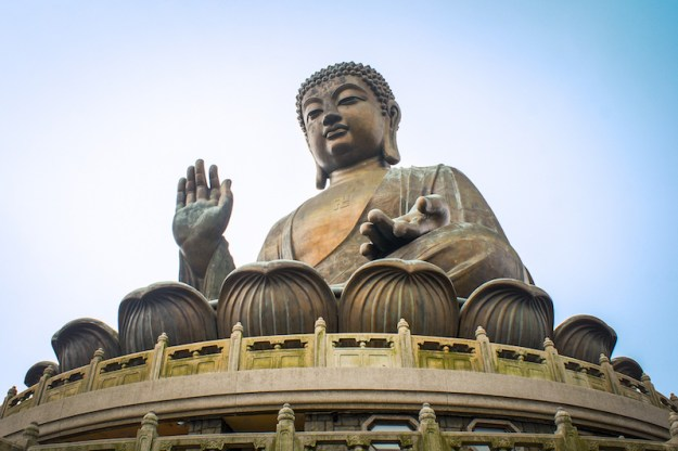 mudra of fearlessness, giant Buddha, mudras, sacred hand gestures