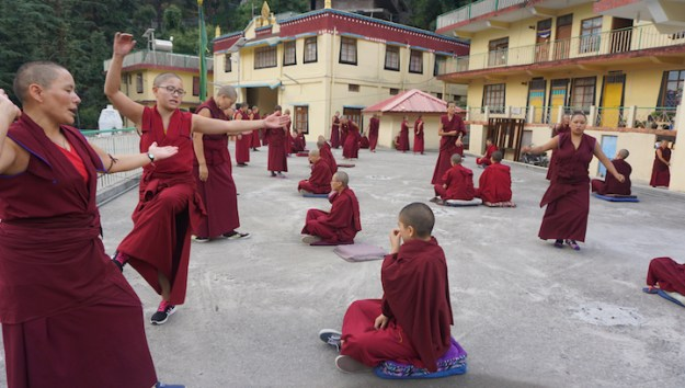 Tibetan Nuns Project, Tibetan Buddhism, nuns, Nuns' Media Team, Dolma Ling Nunnery, Tibetans, prayer hall, Tibetan prayers, Dolma Ling Nunnery