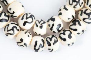 OM White mala, mala, malas, Tibetan malas, Tibetan prayer beads,