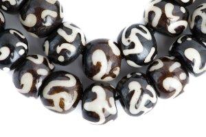 Om-Dark Brown mala, mala, malas, Tibetan malas, Tibetan prayer beads,