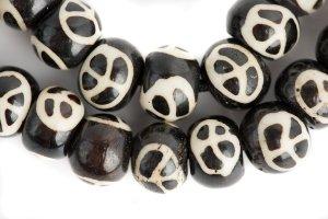 Peace Symbol mala, mala, malas, Tibetan malas, Tibetan prayer beads, Peace Symbol beads, Peace Symbol prayer beads, Peace Symbol Tibetan beads