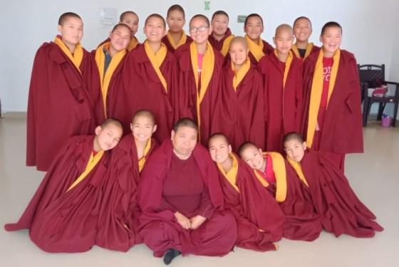 Tibetan Buddhist nuns from Sherab Choeling Nunnery
