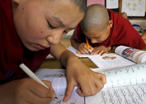 Shugsep Nunnery, Tibetan Buddhist nuns studying, Tibetan Nuns Project
