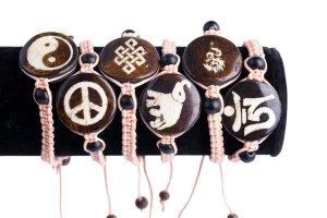 macrame, bracelets with meaning, macrame bracelet, peace bracelet, yin yang bracelet, elephant bracelet, eternal knot bracelet,