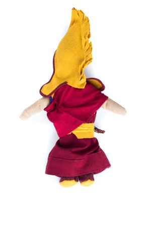 Monk Dolls are handmade by the nuns at Dolma Ling Nunnery, made from recycled nuns' robes, dolls wear mini mala and a set of prayer beads