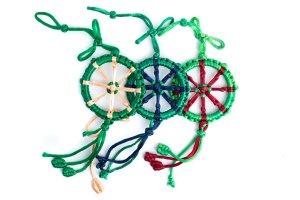 Large Dharma Wheel Green variations