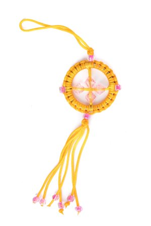 Small Dharma Wheel Yellow