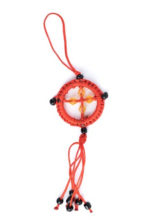 Small Dharma Wheel Red