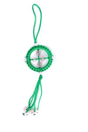 Small Dharma Wheel Green