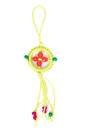 Small Dharma Wheel Bright Green