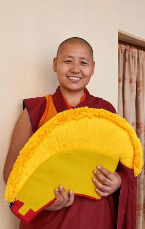 Tenzin Kunsel, Dolma Ling nunnery, nun from Tibet, Geshema, 2019 Message