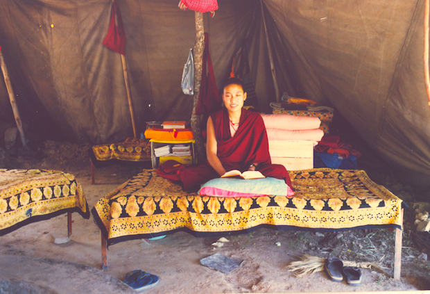 Tibetan Buddhist nuns, Tibetan Nuns Project, housing, nuns living in tents, Dharamsala