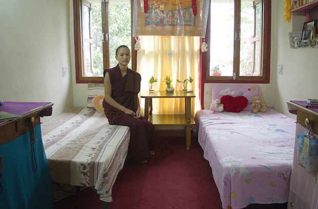 Dolma Ling Nunnery, nun's room, housing, Tibetan Nuns Project