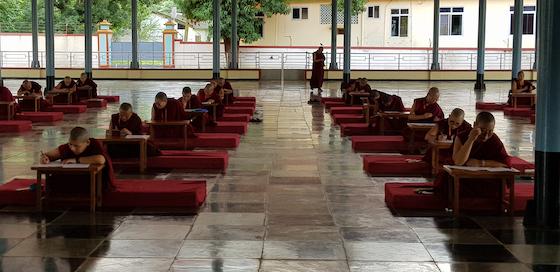Tibetan Buddhist nuns take Geshema exams in 2019