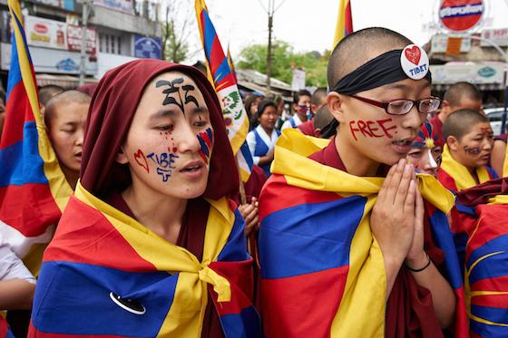 March 10th, Tibetan Uprising Day, Tibetan demonstrations, protests by Tibetan Buddhist nuns