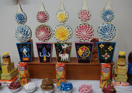 Losar, Losar altar, Tibetan New Year, Tibetan butter sculptures, Tibetan sacred arts, Tibetan ritual arts