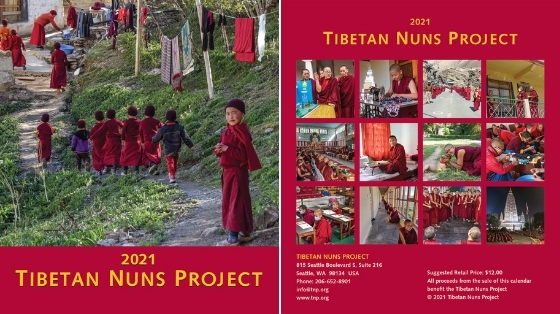 Front and back of the 2021 Tibetan Nuns Project calendar