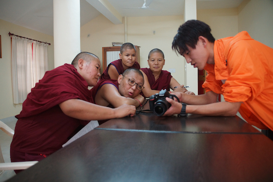 Tibetan Nuns Project camera and media training for nuns