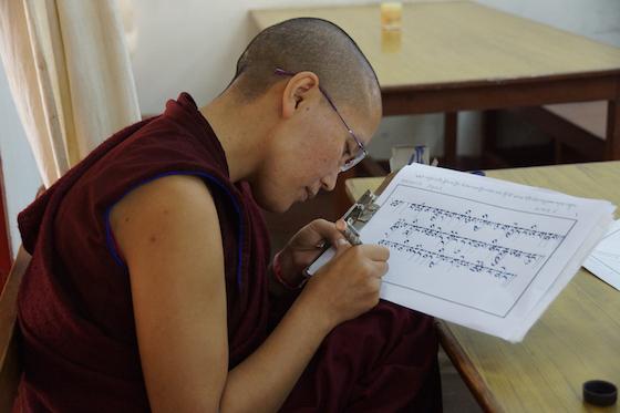 Tibetan calligraphy, Tibetan language