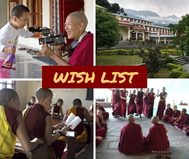 wish list, Tibetan Nuns Project appeal